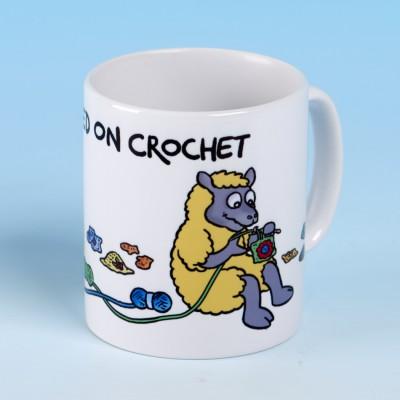 5131 Mug HOOKED ON CROCHET-YELLOW