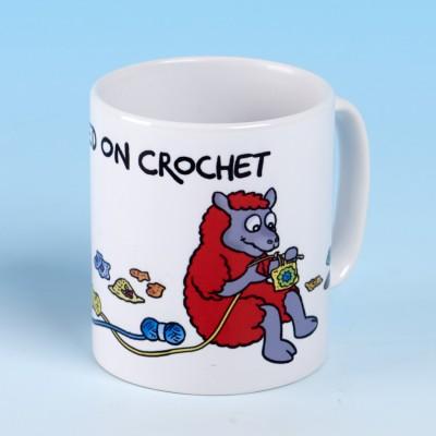 5132 Mug HOOKED ON CROCHET-BRIGHT RED