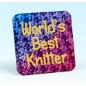 5229 Coaster WORLD'S BEST KNITTER