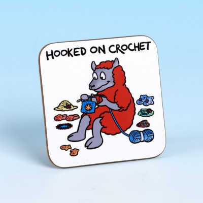 5232 Coaster HOOKED ON CROCHET BRIGHT RED