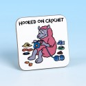 5234 Coaster HOOKED ON CROCHET BRIGHT PINK