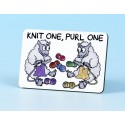 6101 Fridge Magnet KNIT ONE, PURL ONE