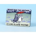 6111 Fridge Magnet NEVER MIND THE WEATHER