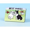 6113 Fridge Magnet BEST MATES