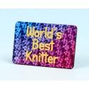 6138 Fridge Magnet WORLD'S BEST KNITTER