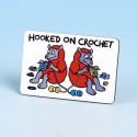 6142 Fridge Magnet HOOKED ON CROCHET BRIGHT RED