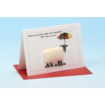 S101 GET WELL SOON Sheep Card