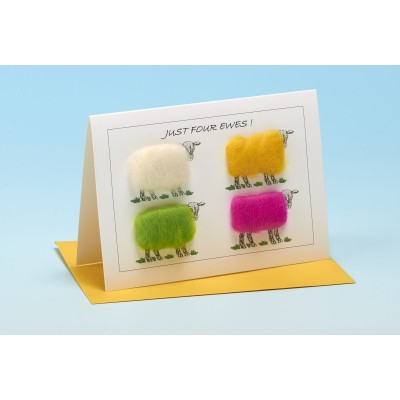 S136 JUST FOUR EWES Sheep card