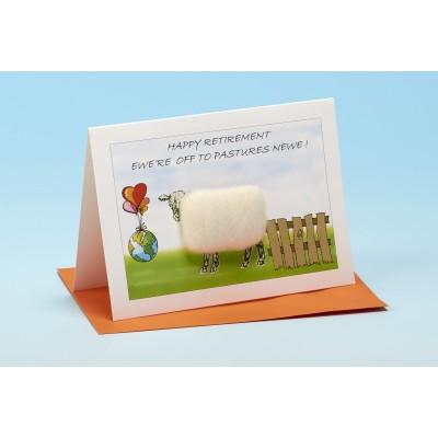 S137 HAPPY RETIREMENT Sheep Card