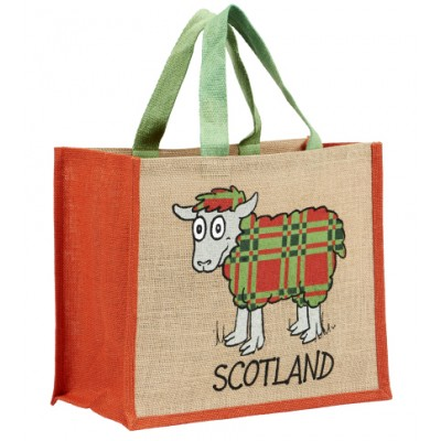 JB12 Souvenir Shopping Bag-Tartan Sheep