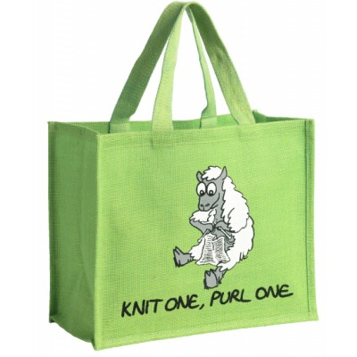 "JB6 ""KNIT ONE, PURL ONE"" Shopping Bag"