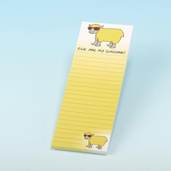 3101 EWE ARE MY SUNSHINE Magnetic Memo Pad
