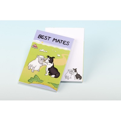 3127 BEST MATES Note Pad