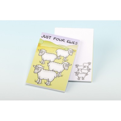 3135 JUST FOUR EWES Note Pad
