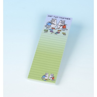 3158 KNIT TWO TOGETHER Magnetic Memo Pad