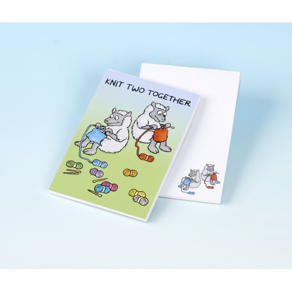 3162 KNIT TWO TOGETHER Note Pad