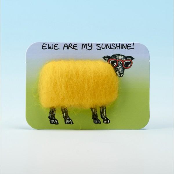 4108 Woolly Fridge Magnet-EWE ARE MY SUNSHINE