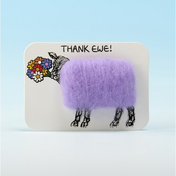 4109 Woolly Fridge Magnet- THANK EWE