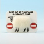 4113 Woolly Fridge Magnet-KEEP OUT OF THIS FRIDGE-EWERE BAA-RED