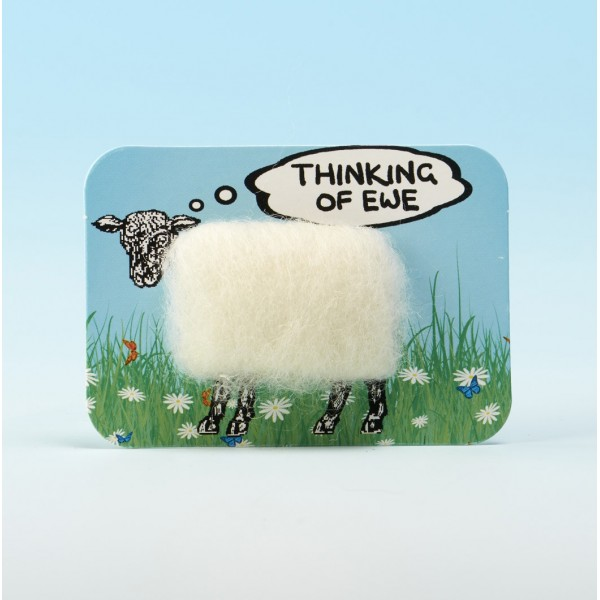 4115 Woolly Fridge Magnet-THINKING OF EWE