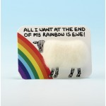 4116 Woolly Fridge Magnet-ALL I WANT AT THE END OF MY RAIBBOW IS EWE