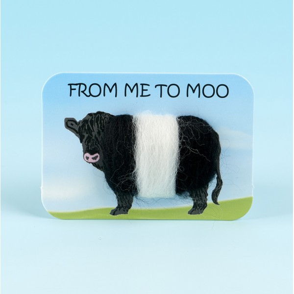 4122 Woolly Fridge Magnet-FROM ME TO MOO