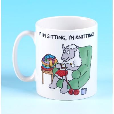 5135 Mug IF IM SITTING, IM KNITTING