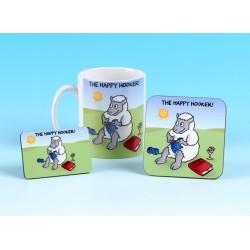 Set of Mug, Coaster and Fridge Magnet-THE HAPPY HOOKER