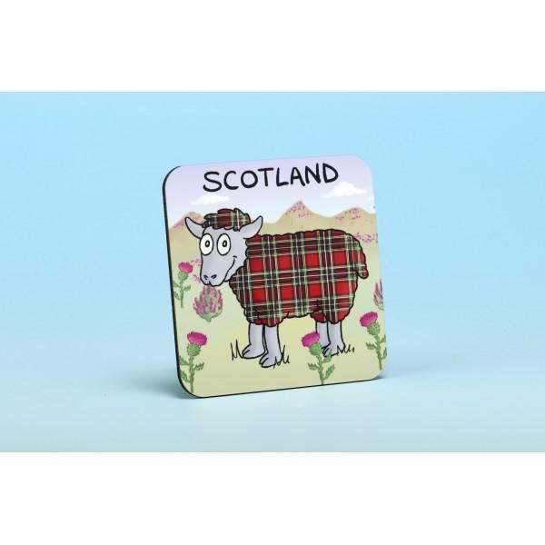 5207 TARTAN SHEEP Coaster
