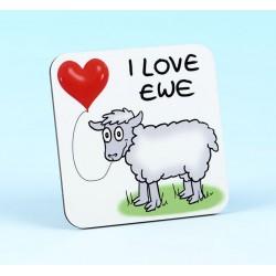 5225 I LOVE EWE Coaster