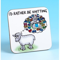 5236 Coaster ID RATHER BE KNITTING