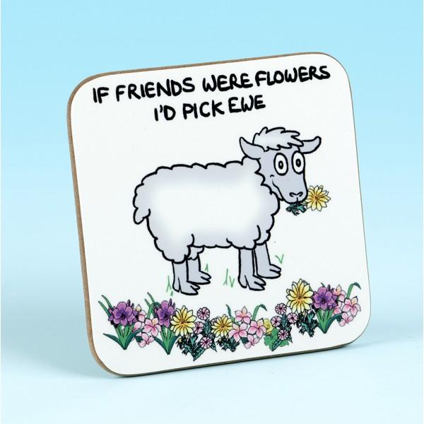 5244 IF FRIENDS WERE FLOWERS ID PICK EWE Coaster