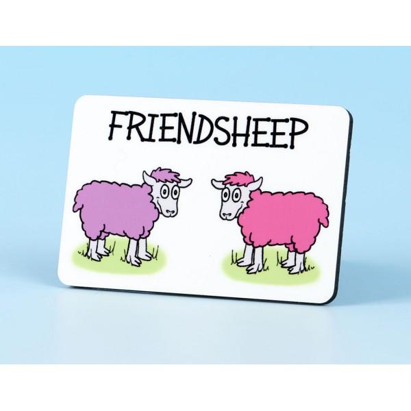 6107 Fridge Magnet FRIENDSHEEP