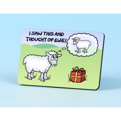 6108 Fridge Magnet I SAW THIS AND THOUGHT OF EWE