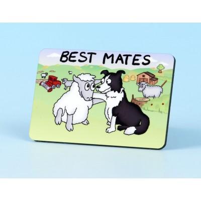 6113 Fridge Magnet BEST MATES