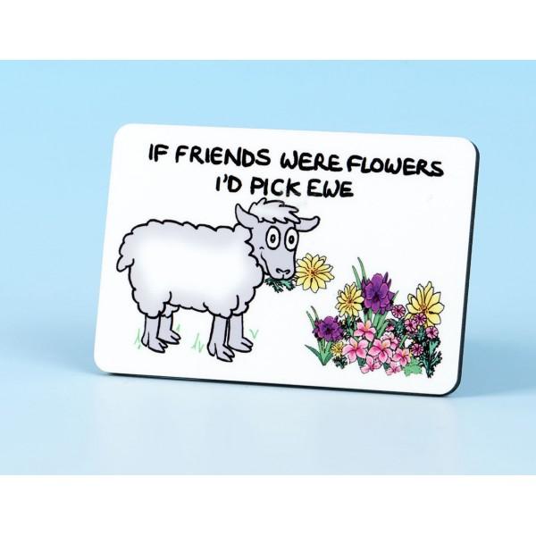 6117 Fridge Magnet IF FRIENDS WERE FLOWERS