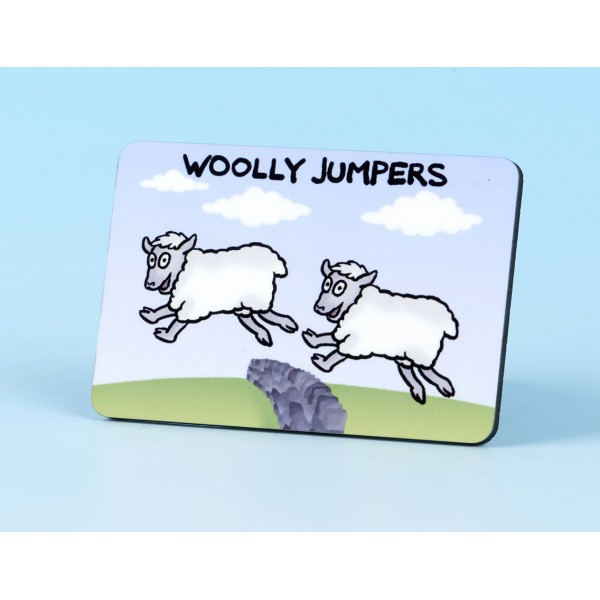 6118 Fridge Magnet WOOLLY JUMPERS