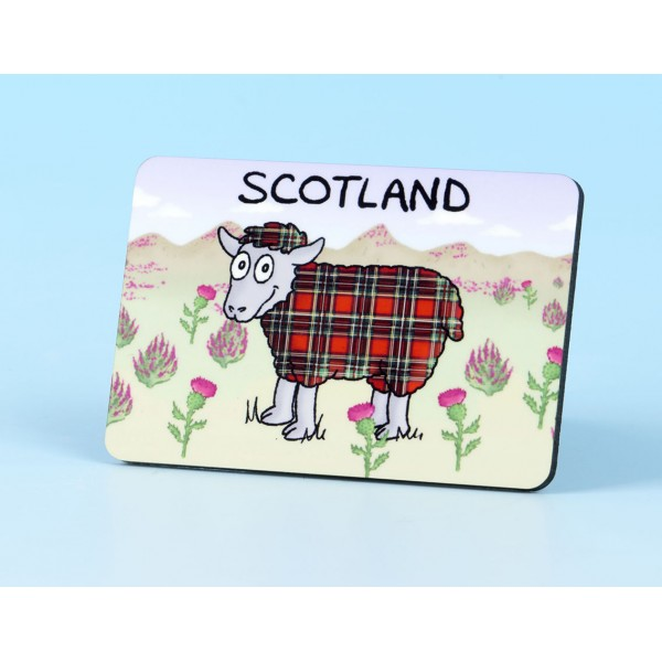 6120 Fridge Magnet TARTTAN SHEEP