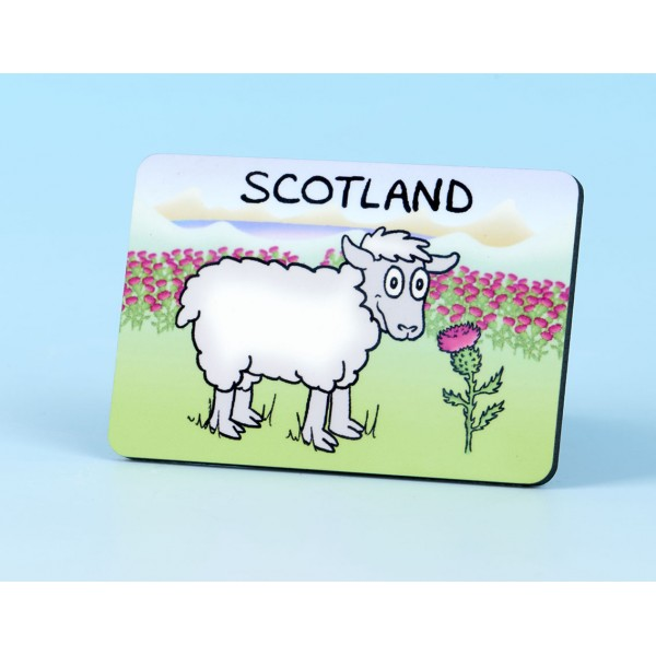 6126 Fridge Magnet SHEEP AND THISTLE