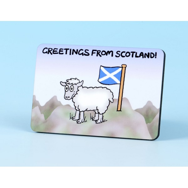 6127 Fridge Magnet SHEEP ON MOUNTAIN SCOTLAND