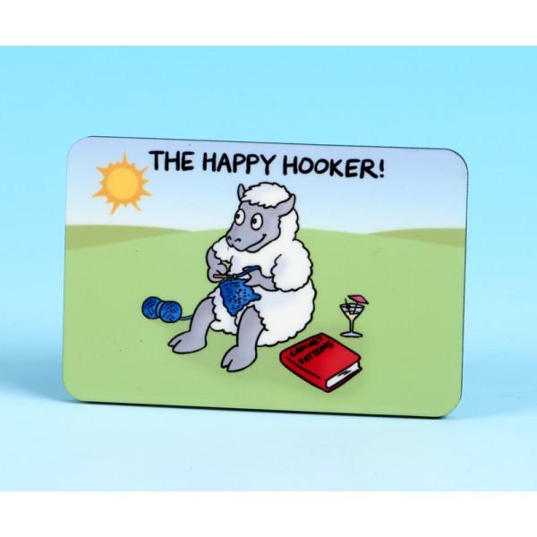 6147 Fridge Magnet THE HAPPY HOOKER