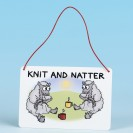 Metal Hanging Sign-KNIT AND NATTER