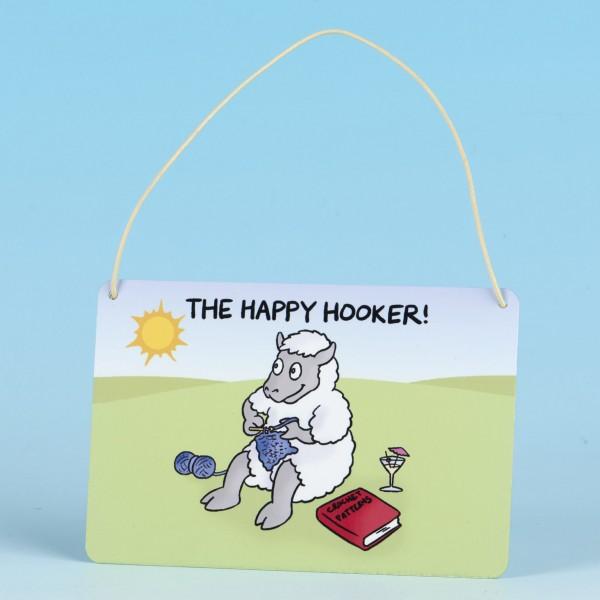 Metal Hanging Sign-THE HAPPY HOOKER