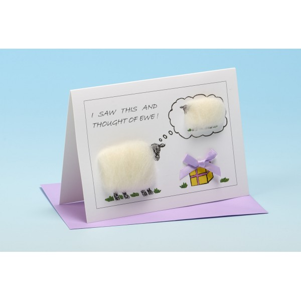 """S111 """"I SAW THIS AND I THOUGHT OF EWE!"""" Sheep card"""