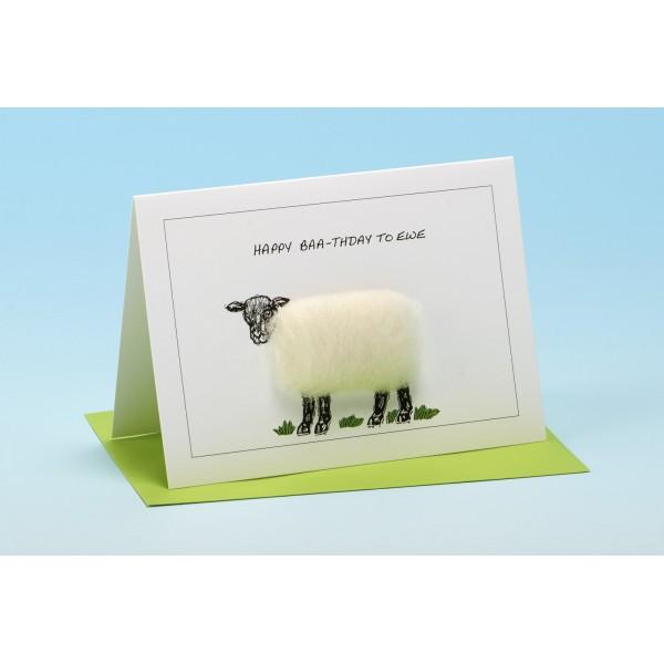 "S15 ""HAPPY BAA-THDAY TO EWE"" Sheep Card"