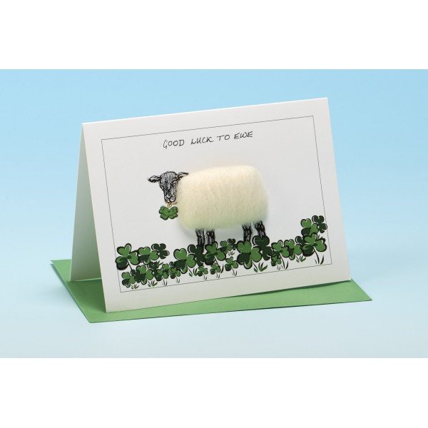 "S2 ""GOOD LUCK TO EWE"" Sheep card"