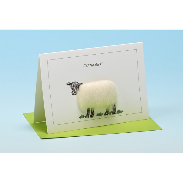 "S33 ""THANK EWE"" Sheep card"