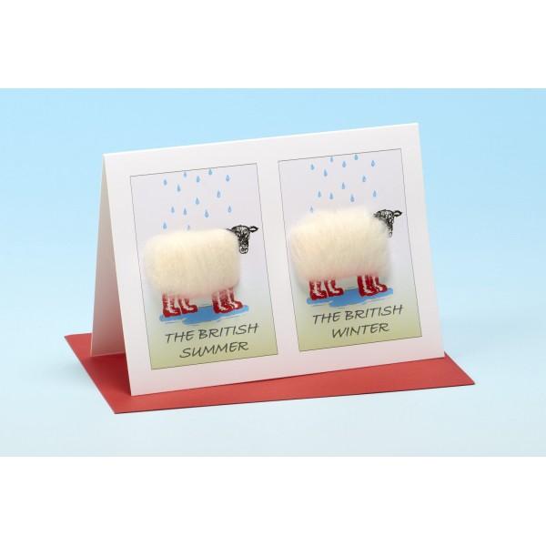 S4 BRITISH WEATHER Sheep Card