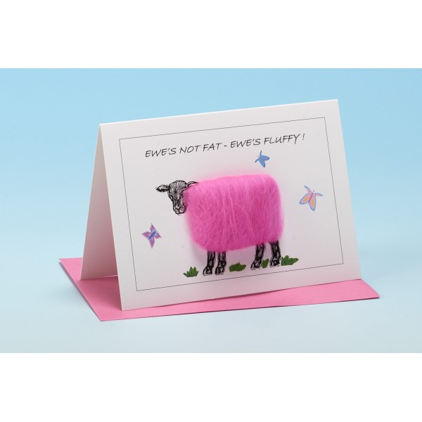 "S47 ""EWE'S NOT FAT EWE'S FLUFFY"" Sheep Card"