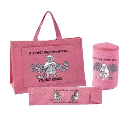 3 PIECE KNITTERS GIFT SET-BRIGHT PINK